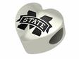 Mississippi State Bulldogs Heart Shape Bead
