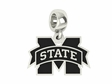 Mississippi State Bulldogs Logo Cut Out Dangle