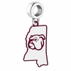Mississippi State Bulldogs Logo Dangle Charm
