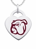 Mississippi State Bulldogs Logo Heart Pendant With Color