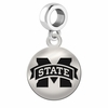 Mississippi State Round Dangle Charm