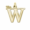 Mississippi University for Women The W 14K Yellow Gold Natural Finish Cut Out Logo Charm