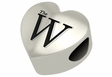 Mississippi University for Women The W Heart Shape Bead