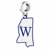 Mississippi University for Women The W Logo Dangle Charm