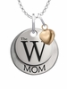 Mississippi University for Women The W MOM Necklace with Heart Charm