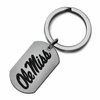 MIssissippie Rebels Stainless Steel Key Ring