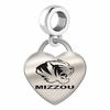 Missouri Engraved Heart Dangle Charm