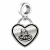 Missouri Southern State Lions Border Heart Dangle Charm