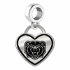 Missouri State Bears Border Heart Dangle Charm