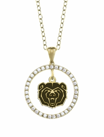 Missouri State Bears Gold and Diamond Circle Pendant