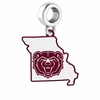 Missouri State Bears Logo Dangle Charm