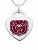 Missouri State Bears Logo Heart Pendant With Color
