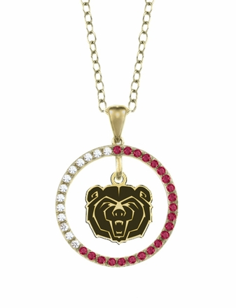 Missouri State Bears Ruby and Diamond Necklace