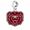 Missouri State Bears Silver Logo and School Color Drop Charm