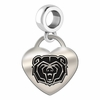 Missouri State Engraved Heart Dangle Charm