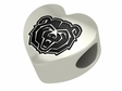 Missouri State Bears Heart Shape Bead