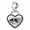 Missouri Tigers Border Heart Dangle Charm