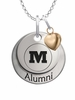 Monmouth Fighting Scots Alumni Necklace with Heart Accent