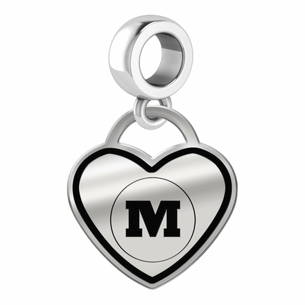 Monmouth Fighting Scots Border Heart Dangle Charm