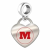 Monmouth Fighting Scots Color Heart Dangle