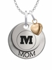 Monmouth Fighting Scots MOM Necklace with Heart Charm