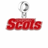 Monmouth Scots Silver Logo and School Color Drop Charm