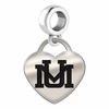 Montana Engraved Heart Dangle Charm