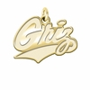 Montana Grizzlies 14K Yellow Gold Natural Finish Cut Out Logo Charm