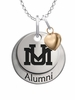 Montana Grizzlies Alumni Necklace with Heart Accent