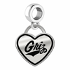 Montana Grizzlies Border Heart Dangle Charm
