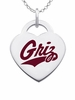 Montana Grizzlies Color Logo Heart Charm