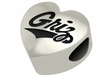 Montana Grizzlies Heart Shape Bead