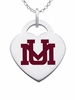 Montana Grizzlies Logo Heart Pendant With Color