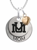 Montana Grizzlies MOM Necklace with Heart Charm