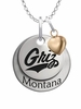 Montana Grizzlies with Heart Accent