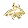 Montana State Bobcats 14K Yellow Gold Natural Finish Cut Out Logo Charm