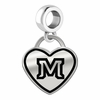 Montana State Bobcats Border Heart Dangle Charm