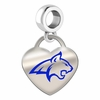 Montana State Bobcats Color Heart Dangle