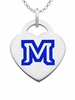 Montana State Bobcats Logo Heart Pendant With Color