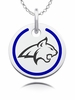 Montana State Fighting Bobcats Round Enamel Charm