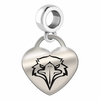 Morehead State Engraved Heart Dangle Charm