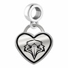Morehead State Eagles Border Heart Dangle Charm