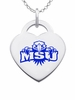 Morehead State Eagles Logo Heart Pendant With Color