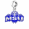 Morehead State Eagles Silver Logo and School Color Drop Charm
