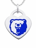 Morgan State Bears Color Logo Heart Charm
