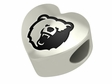 Morgan State Bears Heart Shape Bead