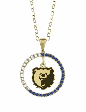 Morgan State Bears Sapphire and Diamond Necklace