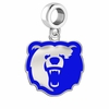 Morgan State Bears Silver Logo and School Color Drop Charm
