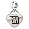 Morgan State Engraved Heart Dangle Charm