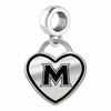 Mount St. Mary's Mountaineers Border Heart Dangle Charm